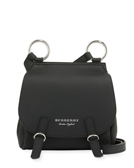 Burberry Bridle Small Soft Leather Crossbody Bag, Black