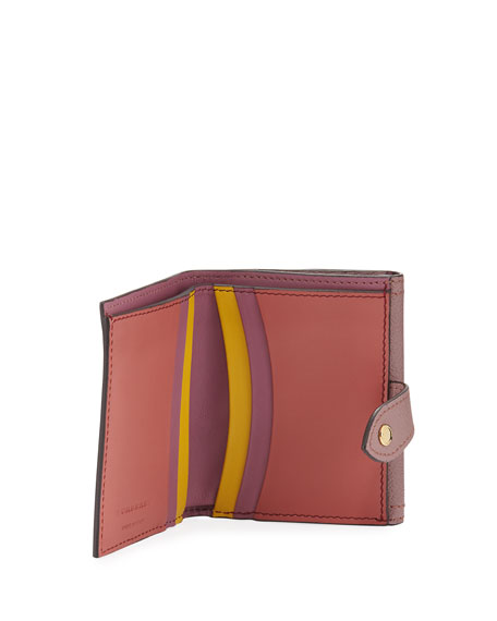 Luna Soft Grain Leather/Check French Wallet