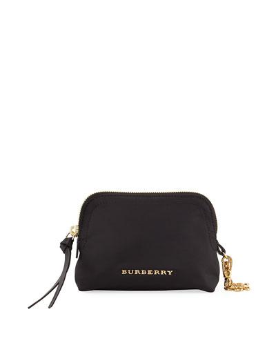 Small Nylon Pouch Bag, Black