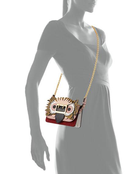 Mini Phone Crossbody Bag with Exotic Animal Applique