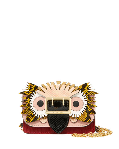 Burberry Mini Phone Crossbody Bag with Exotic Animal