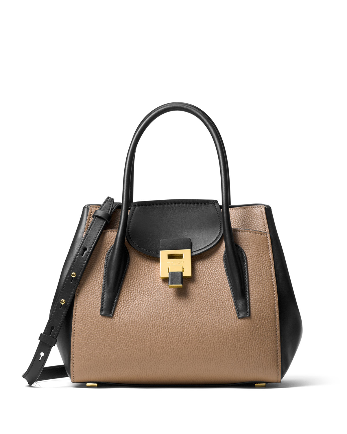 56b653da44b5 Michael Kors Bancroft Medium Two-Tone Tote Bag