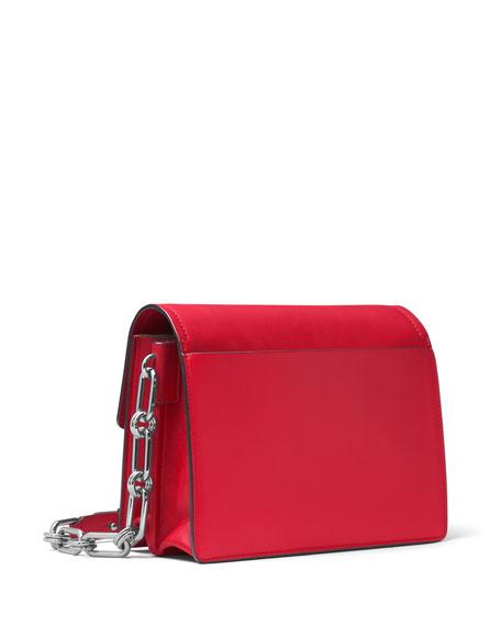 Cate Medium Chain Shoulder Bag, Crimson
