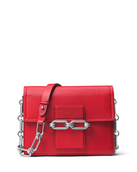 Michael Kors Cate Medium Chain Shoulder Bag, Crimson