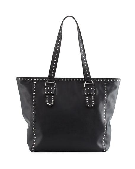 Midnighter Leather Stud Tote Bag