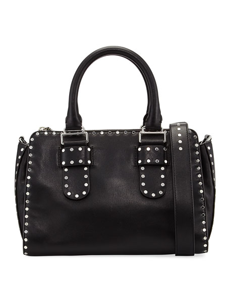 Midnighter Medium Satchel Bag, Black