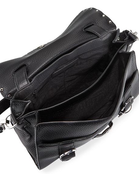 Biker Doctor Studded Bag, Black