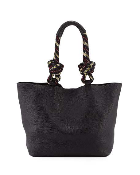 Rebecca Minkoff Climbing Rope Leather Tote Bag, Black