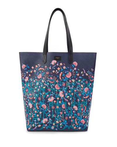 Garden Gates Floral Tote Bag