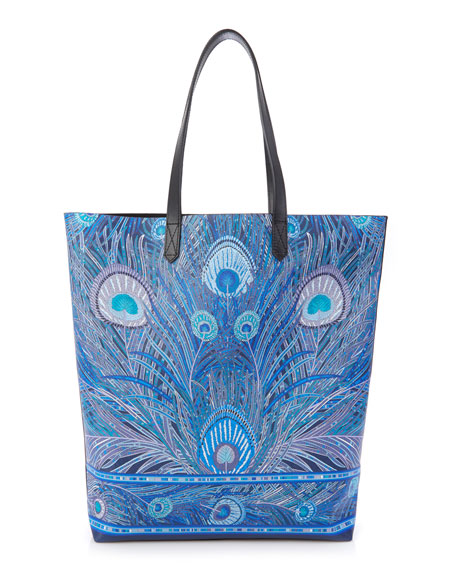 Hera Peacock Canvas Tote Bag