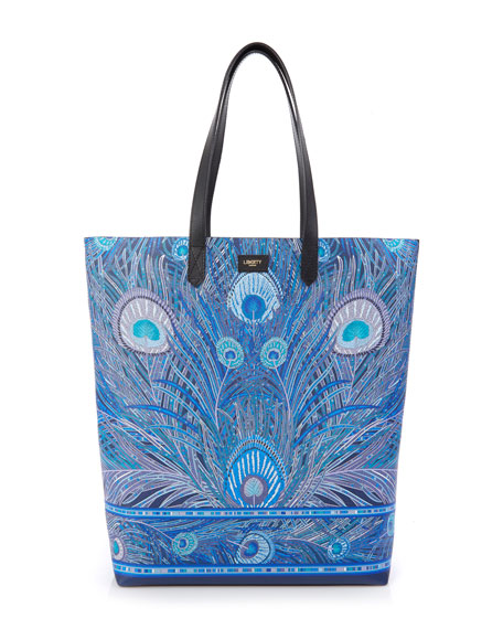 Liberty London Hera Peacock Canvas Tote Bag