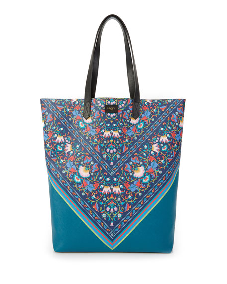 Liberty London Lodden Chevron Floral Tote Bag