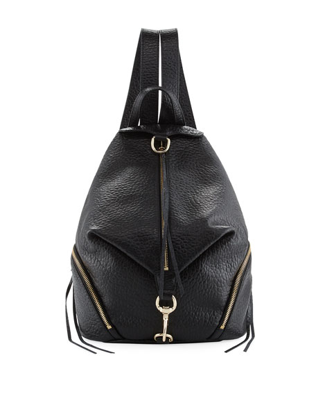 Rebecca Minkoff Julian Large Leather Backpack, Black