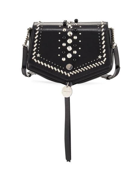 Jimmy Choo Arrow Embellished Leather Crossbody Bag