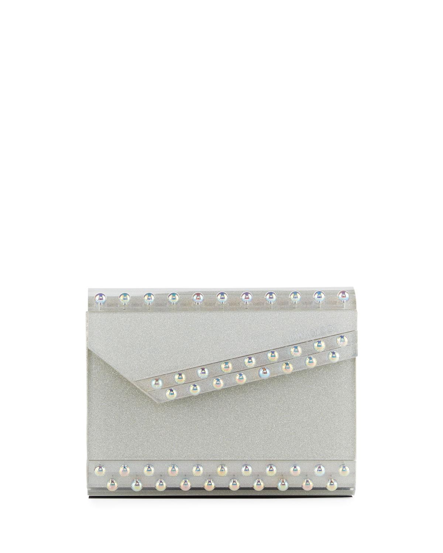 9e8e2342f15e Jimmy Choo Candy Glitter Acrylic Clutch Bag | Neiman Marcus