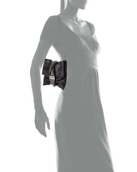 Chandra/M Metallic Clutch Bag, Black