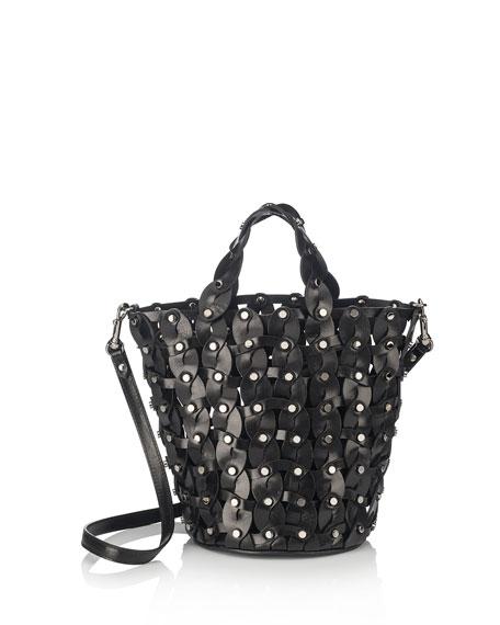 Jimmy Choo Maxine Woven Studded Tote Bag, Black