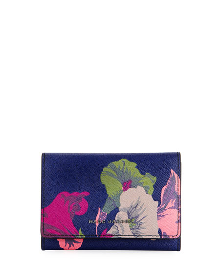 Marc Jacobs Morning Glories Saffiano Wallet