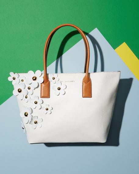 The Daisy Flower Tote Bag, Lily/White/Multi
