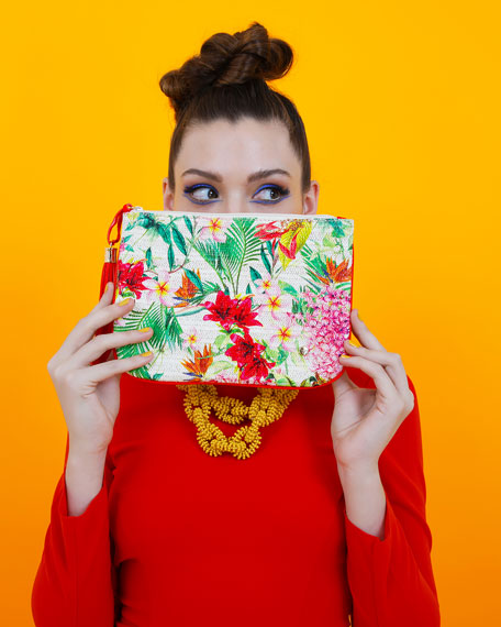 Poppy Large Flat Pouch