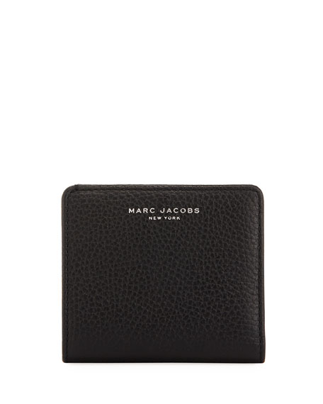 Gotham Pebbled Leather Billfold, Black
