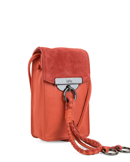 Dionne Crossbody Phone Pouch, Grapefruit