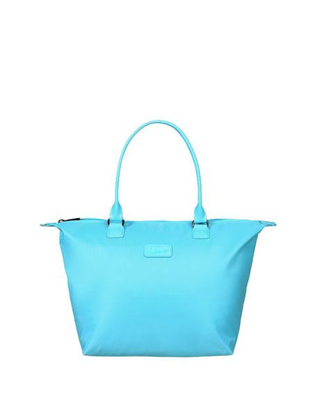 Riviera Blue Lady Plume Tote Bag, Medium