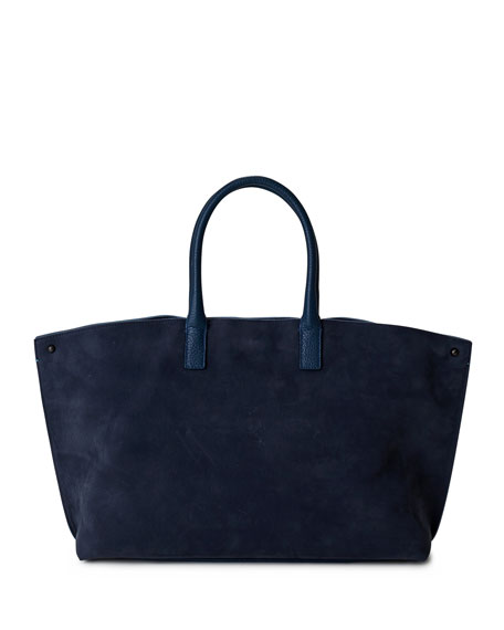Ai Small Colorblock Top-Handle Bag, Blue Pattern