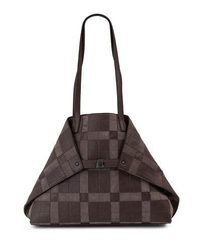 AI Medium Patchwork Shoulder Bag