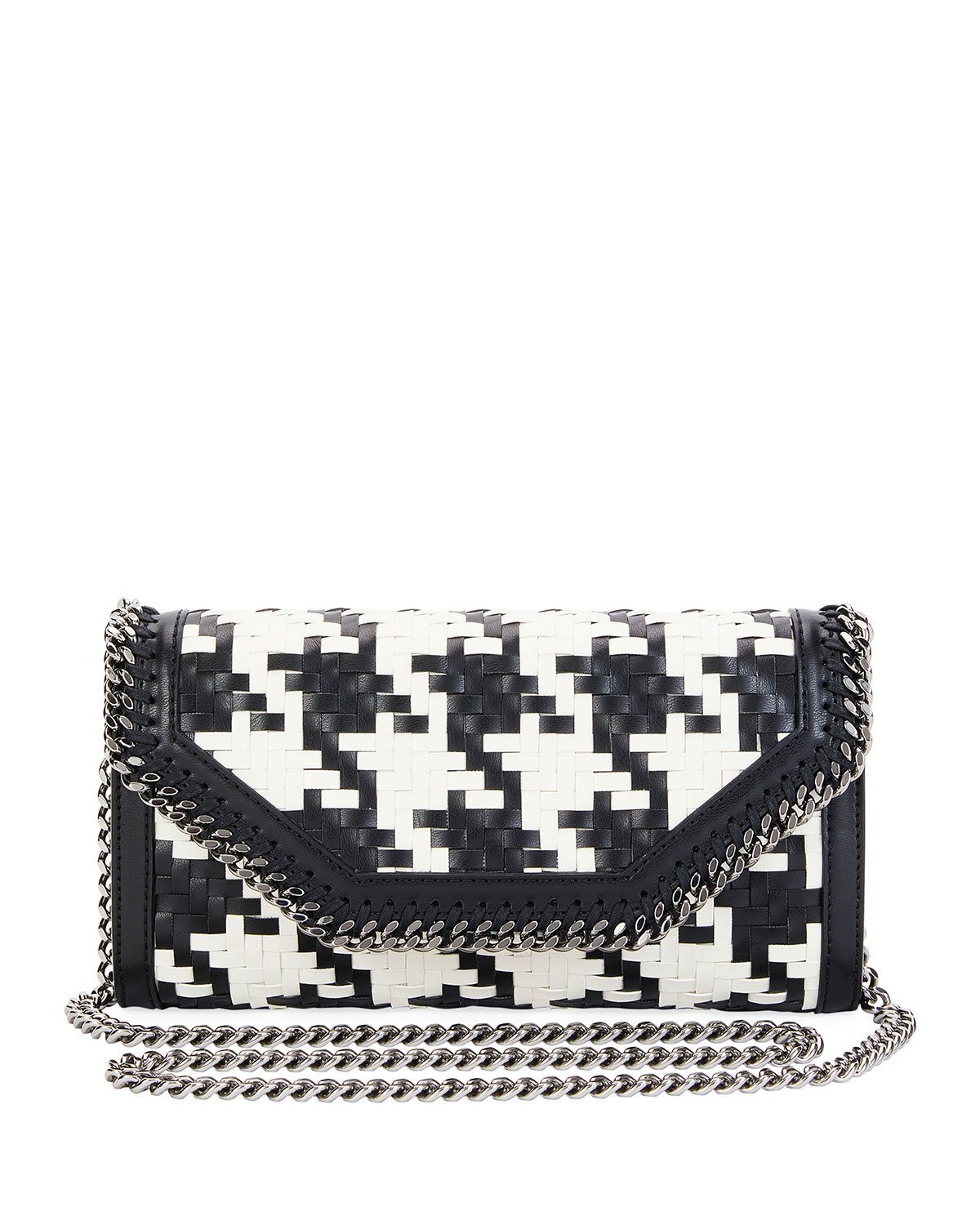 Stella McCartney Falabella Dogtooth Eco Weave Clutch Bag fd7d2415e7d06