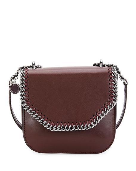 Falabella Eco Faux-Leather Shoulder Bag, Red/Black