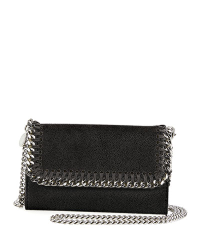 Shaggy Deer Phone Wallet On A Chain, Black