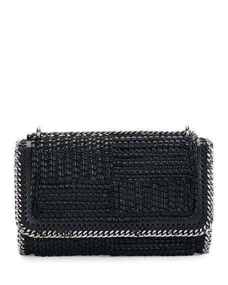 Stella McCartney Falabella Eco Woven Patchwork Shoulder Bag,