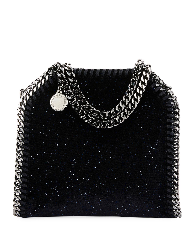 4a8e54907a76 Stella McCartneyFalabella Tiny Glitter Velvet Tote Bag