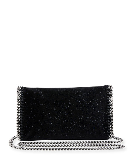 Falabella Glittered Crossbody Bag, Black/Blue