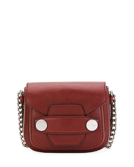 Stella McCartney Popper Medium Faux-Leather Crossbody Bag, Brick