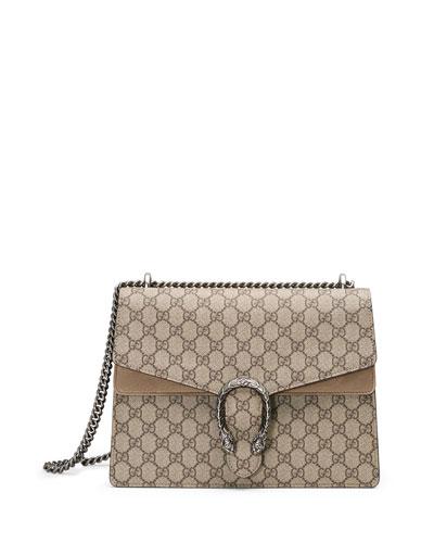 Dionysus GG Supreme Shoulder Bag  Ebony/Taupe