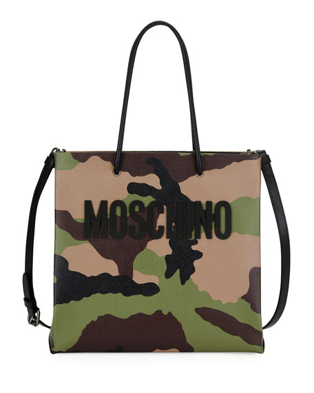 Moschino Camouflage-Print Tote Bag, Multi