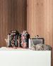 Vivi Butterfly Leather Box Clutch, Black/Multi