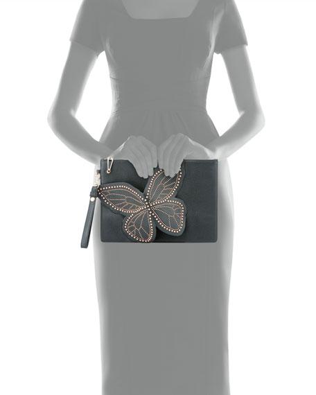 Flossy Stud Butterfly Pochette