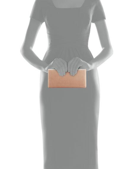 Celeste Suede Box Clutch Bag