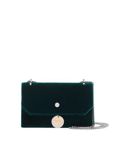 Finley Velvet Crossbody Clutch Bag