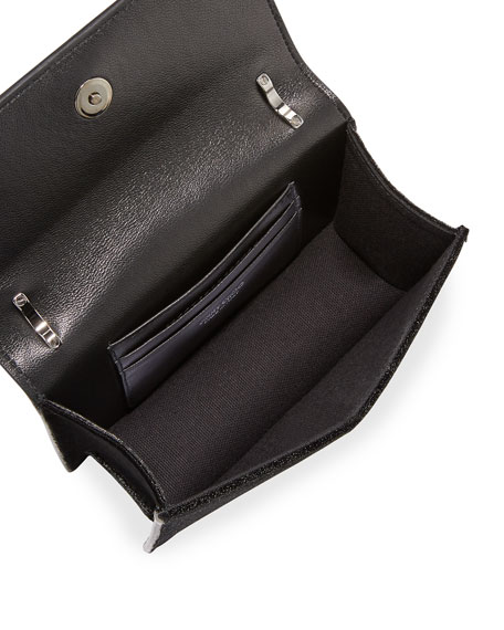 Finley Metallic Velvet Crossbody Clutch Bag
