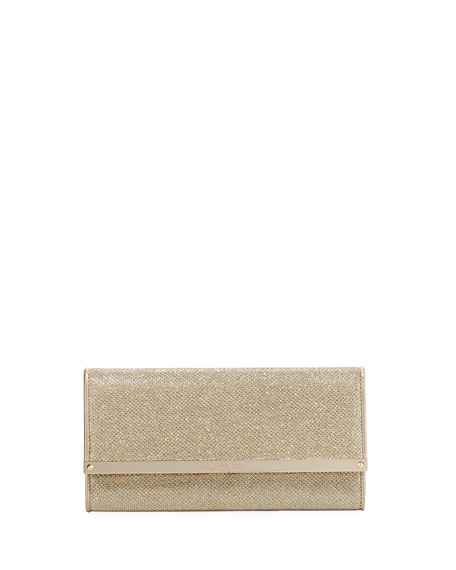 Jimmy Choo Milla Glitter Evening Clutch Bag