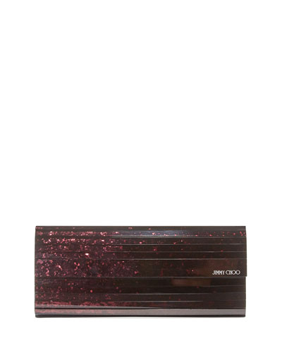 Jimmy Choo Sweetie Glitter Acrylic Clutch Bag