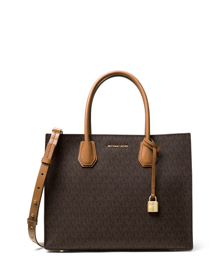 MICHAEL Michael Kors Mercer Large Logo Tote Bag,