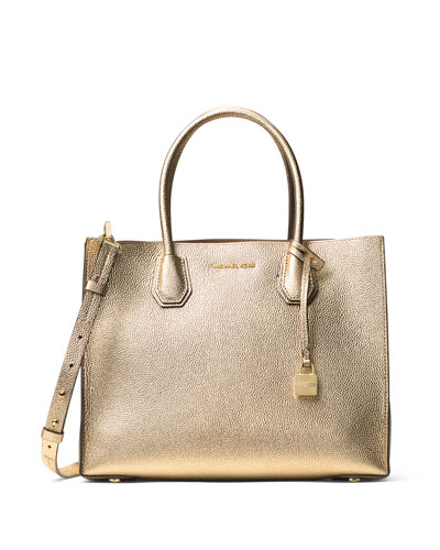 Mercer Large Convertible Tote Bag, Pale Gold
