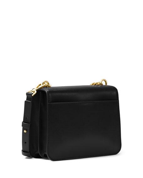 Mott Large Chain Swag Shoulder Bag, Black