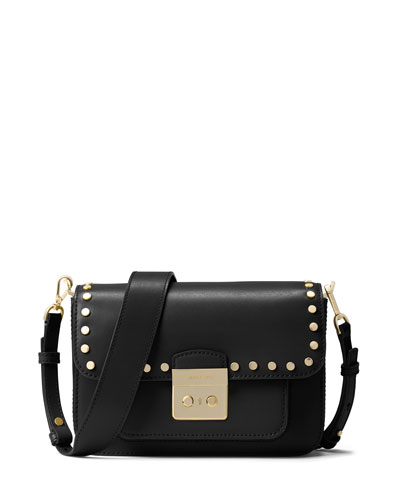 Sloan Editor Large Shoulder Bag, Black