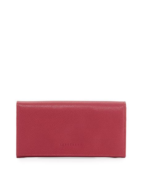 Longchamp Le Foulonne Pebbled Leather Wallet